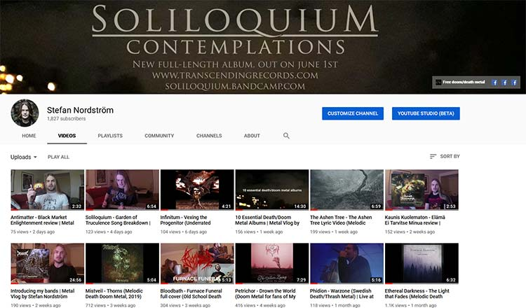kanal på youtube med olika typer av musikpromotion